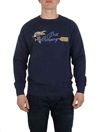 BEST COMPANY Luxury Fashion Herren 6922330800 Blau Baumwolle Sweatshirt   Frühling Sommer 20