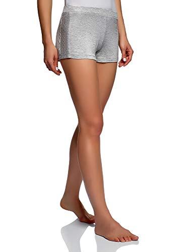 Oodji Ultra Mujer Pantalones Cortos de Viscosa