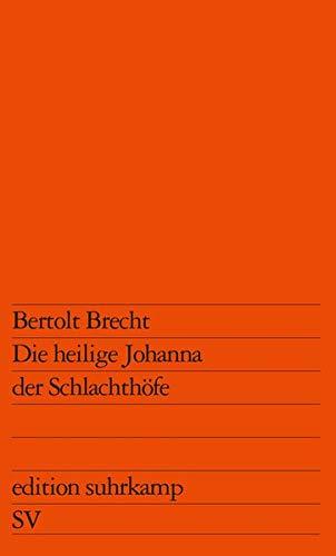Buchseite und Rezensionen zu 'Die heilige Johanna der Schlachthöfe' von Bertolt Brecht