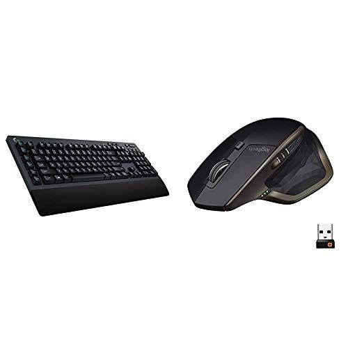 Logitech G613 Lightspeed Wireless Mechanical Gaming Keyboard - Black & MX Master Wireless Mouse – High-Precision Sensor, Speed-Adaptive Scroll Wheel