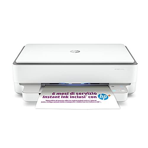 Stampante Multifunzione HP ENVY 6020e - 6 mesi di inchiostro inclusi con HP+