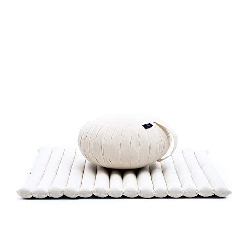 Leewadee Meditationskissen Set Sitzkissen Rund Zafu Yoga Kissen Zabuton...