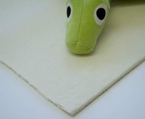 Steffensmeier Velours Teppichboden Palena Meterware   Auslegware für Kinderzimmer Wohnzimmer Schlafzimmer   Creme, Größe: 500x400 cm