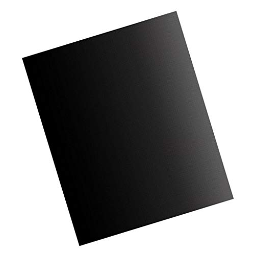 Gazechimp Parrilla de Barbacoa/Alfombrillas para Hornear Antiadherentes Reutilizables Negras de Resistencia 33x40cm