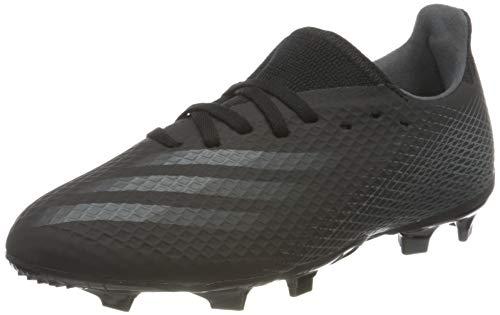 adidas X GHOSTED.3 FG J, Zapatillas de fútbol, NEGBÁS GRISEI NEGBÁS, 38 EU