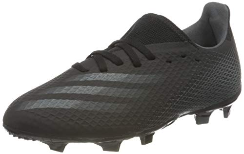 adidas X GHOSTED.3 FG J, Scarpe da Calcio Bambino, Core Black/Grey Six/Core Black, 35 EU