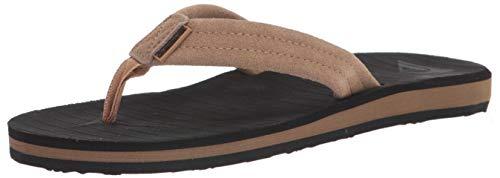 Quiksilver mens Flip Flop Sandal, Brown/Black/Brown, 9 US
