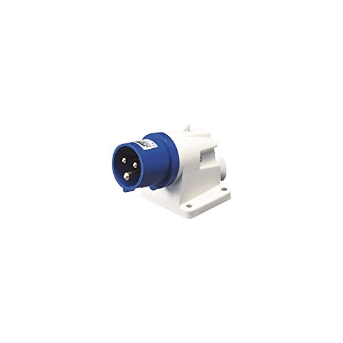 Gewiss GW60404geringer Spannung Schraube Verkabelung 90Grad abgewinkelter Oberfläche Einlass, IP44, 2P + E POLE, 200V-250V, 16A, 50Hz/60Hz, blau