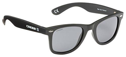 Cressi Tortuga Sonnenbrille, Schwarz/Dunkelgrau Linses, One Size