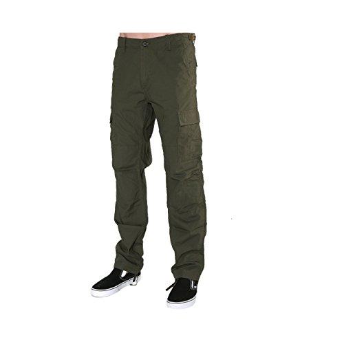 Carhartt L'Aviation Pant è Un Pantalone Cargo Tailored Realizzato in Cotone Leggero Ripstop. Questo Tessuto Altamente Resistente è Stato Lavato per Maggiore Comfort Senza comprometterne Le qualità.
