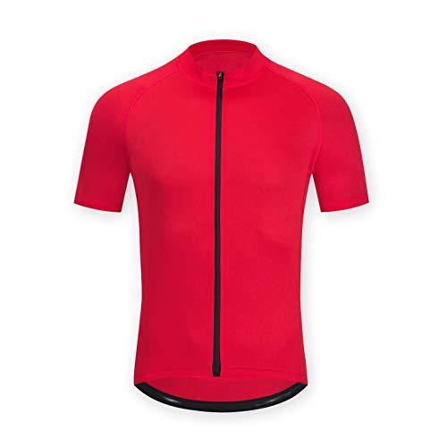 ELNOCSON Uomo Maglia da Ciclismo Manica Corta - Asciugatura Rapida - Traspirante