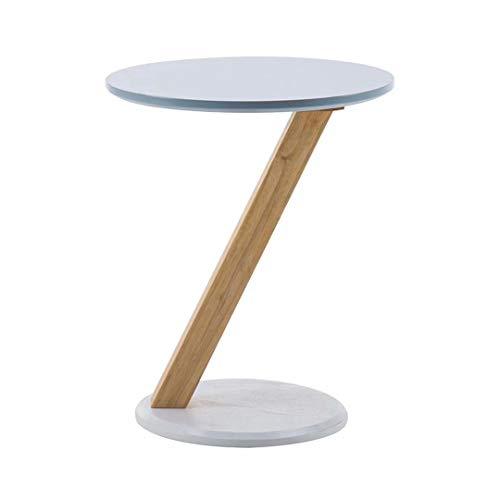 Mesa auxiliar redonda pequeña de madera Lámpara de sofá moderna Mesas auxiliares de té Mesa de centro para sala de estar Oficina en casa Muebles para el hogar elegantes simples Mesas auxiliares de té