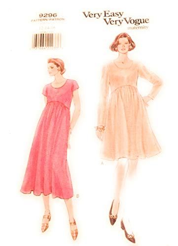 Vogue 9296 Very Easy Maternity Dress Sewing Pattern