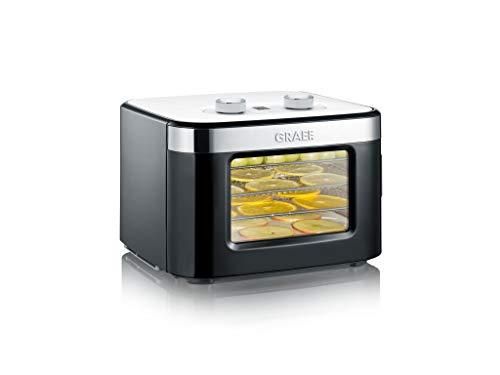 Graef Mini-Dörrautomat DA2042EU, mit 4 Edelstahl-Einschüben, 400 Watt, 24 Stunden Timer, Temperaturregler 35-80℃, sehr kompakt, schwarz