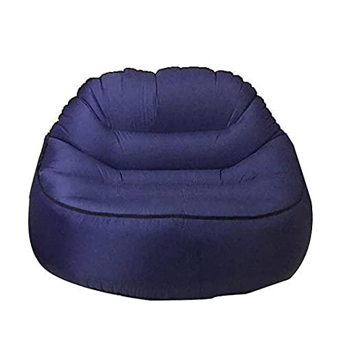 Sofá de ocio inflable,familiar Sofá de silla inflable, sofá de aire impermeable y duradero antifugas de aire, sofá inflable para adultos, bolsa perezosa para acampar, jardín, playa al aire libre