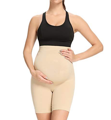 QEAUTY LAB Pregnancy Underwear, Nude, X-Large