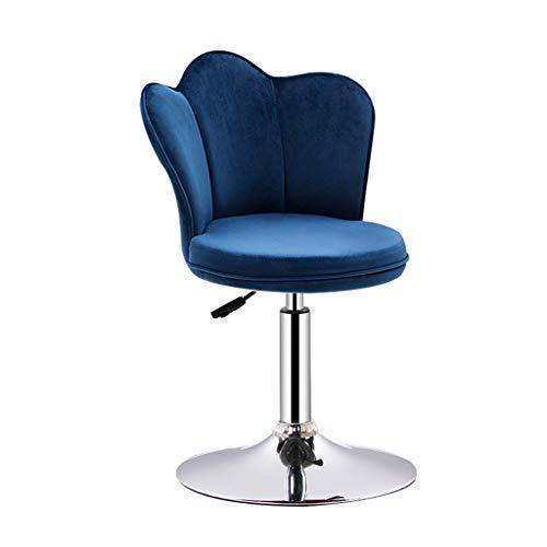 Chaise de Barre d'ascenseur de Dossier de Rotation de 360 degrés pour Le Tabouret de Petit déjeuner de ménage LI Jing Shop (Color : Blue, Size : Base diameter38.5cm)