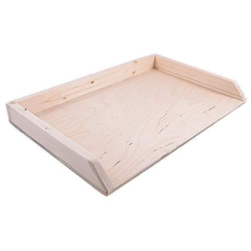 Tavoliere spianatoia per impastare in Legno, tavola Grande per Pasta Fresca, con Bordi Laterali e ASSE in Legno Robusto di Abete (70 x 50)