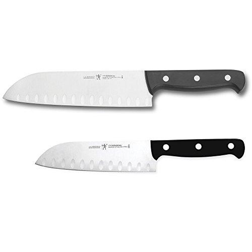 HENCKELS Fine Edge Pro Asian Knife Set, 2-piece, Black/Stainless Steel 2 Piece Asian Cutlery Set