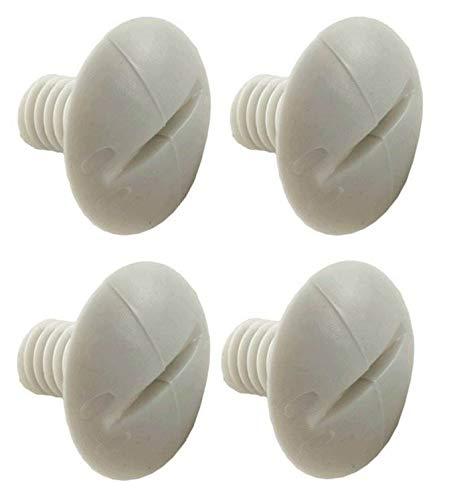 Great Features Of 4 Polaris C55 Pool Cleaner 180 280 Plastic White Wheel Screws Part C-55 (4 Pack)