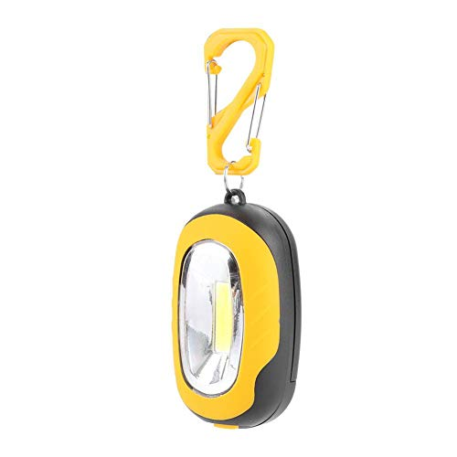 Lámpara Impermeable Carpa Linterna Luces de Advertencia de Seguridad Linterna de Brillo Fuerte Linterna COB Amantes del Ciclismo y la Pesca(Yellow)
