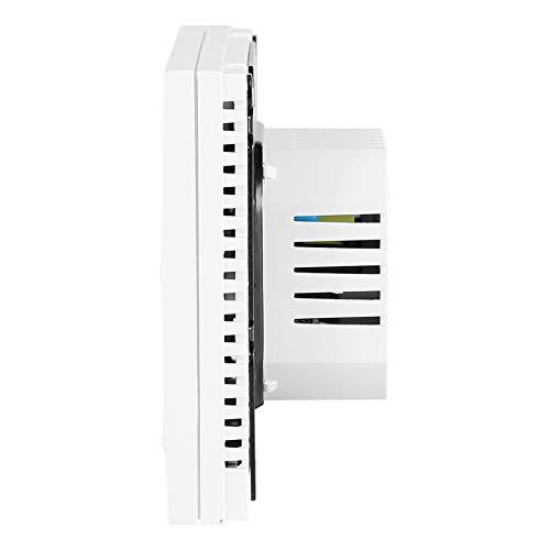 Cosiki Termostato Digital, función de Memoria, Pantalla LCD Grande, termostato WiFi, Calentador de 86 * 86 * 43 mm para válvula térmica, película de calefacción eléctrica, válvula de Bola