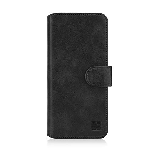 32nd Essential Series 2.0 - PU Leder Mappen Hülle Flip Case Cover für Samsung Galaxy A20e (2019), Ledertasche hüllen mit Magnetverschluss & Kartensteckplatz - Schwarz