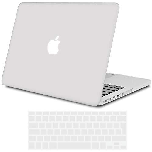 TECOOL MacBook Pro 13 Retina Hülle, Slim Hülle Plastik Hartschale Schutzhülle Snap Cover mit Transparente Tastaturschutz für Apple MacBook Pro 13,3 Zoll Modell:A1425 / A1502 -Frost
