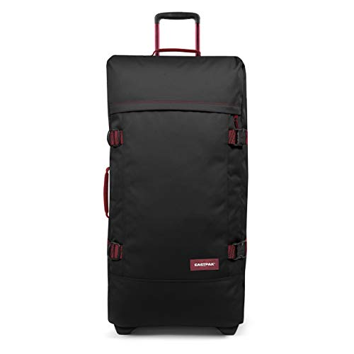 Eastpak Tranverz L Maleta, 79 Cm, 121 L, Negro (Blakout Strip Red)