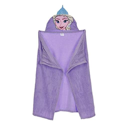 Frozen - Die Eiskönigin ELSA Decke Fleece Kuschel-Decke mit Kapuze 80 x 120 cm, Farbe:Lila