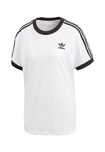Adidas 3Stripes Tee, Camiseta Mujer, Multicolor (Blanco/Negro), 42