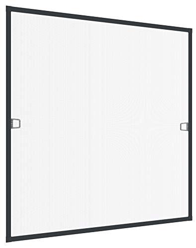 Rhino Insect Screen Insektenschutz Fenster Spannrahmen, Fliegengitter für Fenster, Fenstergitter, Fliegenschutz, aus Aluminium, anthrazit, 100 x 120 cm, 04310