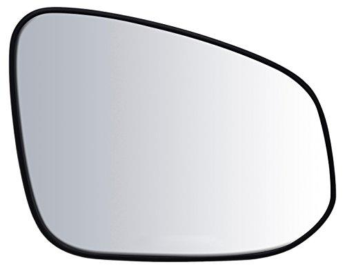 "Passenger Side Non-Heated Mirror Glass w/Backing Plate, Toyota RAV4, 6"" x 7 3/4"" x 8 7/8"" (US & Japan Built, w/o Blind Spot Detection System)"