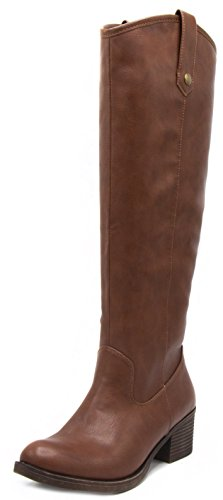 London Fog Womens Irie Riding Boot, Regular and Wide Calf colors available Cognac 11