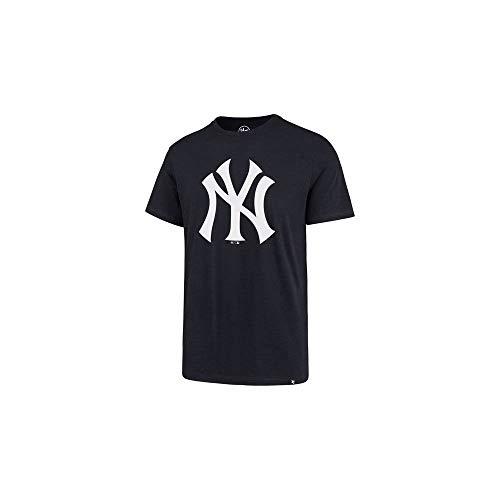 '47 Camiseta de Manga Corta para Hombre, diseño de New York Yankees Imprint Super Rival Color: Azul Marino. M
