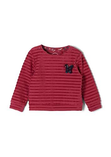 s.Oliver Junior Baby-Mädchen 405.10.009.14.140.2051608 Sweatshirt, Pink Stripes, 80