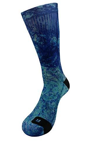 Aqua Art Calcetines con Diseño Motivo Hecho a Mano Calcetines de impresión 3D para Baloncesto Voleibol Tenis Fitness Golf Ciclismo Balonmano la fiesta Respirable Coolmax Calcetines deportivos (47-50)