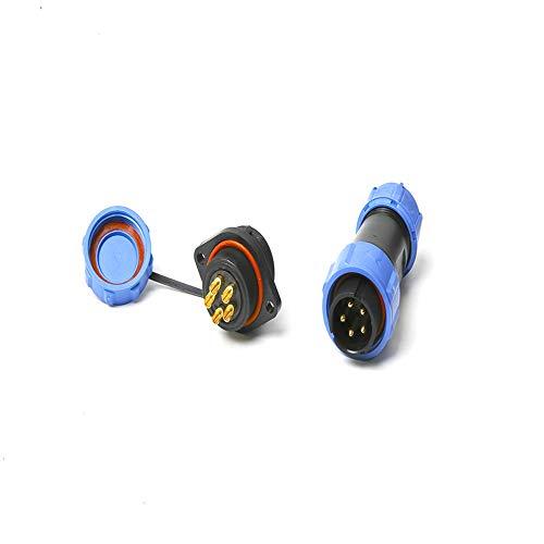 Conectores SP17,Baugger- Conectores impermeables IP68 Enchufe circular 17mm 2Pin 3Pin 4Pin 5Pin 7Pin 9Pin Enchufe multipolar