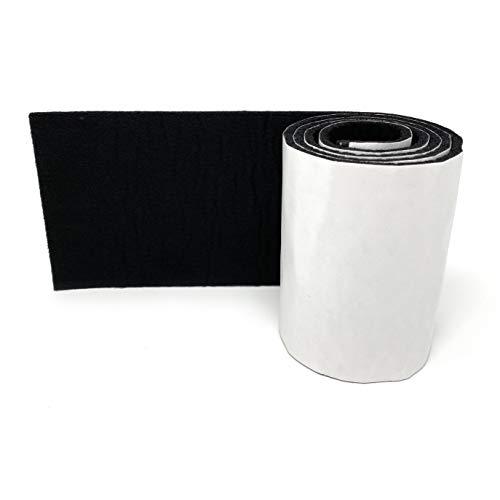 Hochwertige Filzband Rolle selbstklebend in Schwarz - 100cm lang, 10cm breit und 4mm dick - Filzklebeband - Möbelgleiter, Anti Quietsch/Kratz Band - Tische, Schränke, Dämmung von Klappergeräuschen