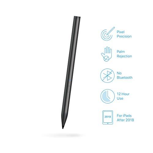Pencil for iPad, Slim Stylus Apple Pen like for iPad Pro (3rd Gen,11''&12.9''), iPad (6th Gen), iPad Air (3rd Gen) and iPad Mini (5th Gen) (black)
