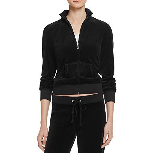 Juicy Couture Fairfax Velour Jacket Pitch Black 2 PT/XS (US 0)
