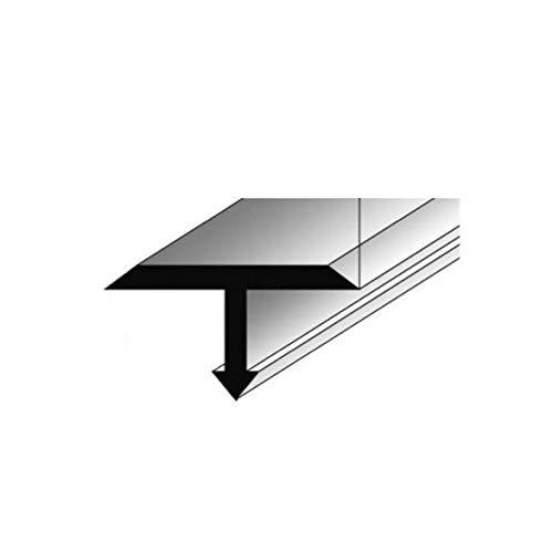 Preisvergleich Produktbild **TOPSELLER** T-Profil für Übergänge,  Montageprofil / Bauprofil,  14 x 9 mm,  aus Aluminium,  Silber