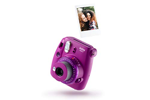 Instax 70100143721 Mini 9 - Cámara Transparente con 10 Disparos, Color Morado