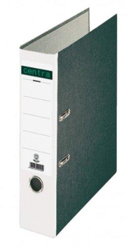 Centra Standard-Ordner (grauappe RC, mit Wolkenmarmor-Papier-Kaschierung, A4, 8 cm Rückenbreite) weiß, 20 Stück