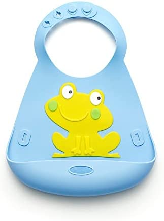 Baby Bibs for Boys - 100% Food Grade Silicon - Waterproof - Easy Clean - Keeps Stains Off - Dishwasher Safe - Cute Designs for Your Baby Boy