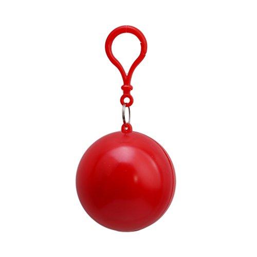 VWH Raincoat d'urgence Imperméable Hook Poncho Bille Extérieur Portatif Jetable Vêtements de Pluie Rouge