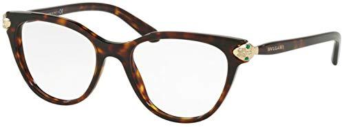 Bulgari 0BV 4156B 504 52 Gafas de sol, Marrón (Dark Havana), Mujer