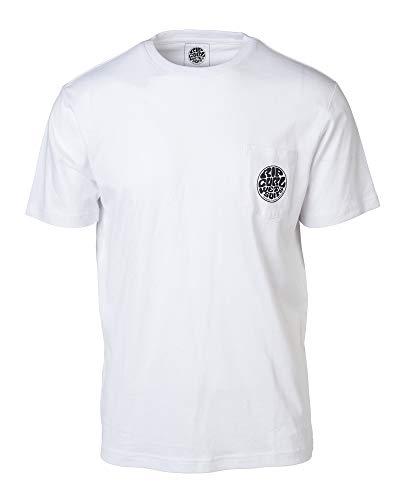 Rip Curl ORIGINAL WETTY Pocket Herren,T-Shirt,Short Sleeve Tee,Kurze Ärmel,Rundausschnitt,Brusttasche,Optical White,2XL