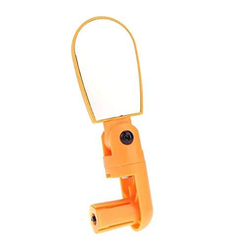 Reflectores Espejos retrovisores de Bicicleta Manillar Giratorio de 360 Grados Espejo Gran Angular Mini Accesorios de Bicicleta Ajustables Flexibles (Color : Orange)