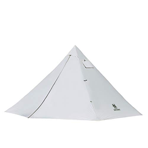 OneTigris SMOKEY HUT Chimney Tent, Ultralight Double Heated Shelter (Beige)